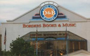 Borders Books storefront from White Flint Mall in Rockville, Maryland.